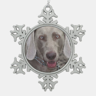 Weimaraner Pewter Snowflake Ornament