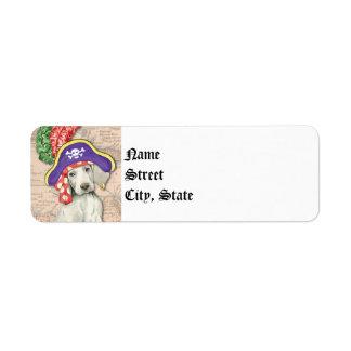 Weimaraner Pirate Return Address Label