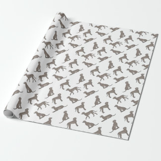 Weimaraner selection wrapping paper