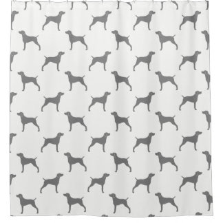 Weimaraner Silhouettes Pattern Shower Curtain