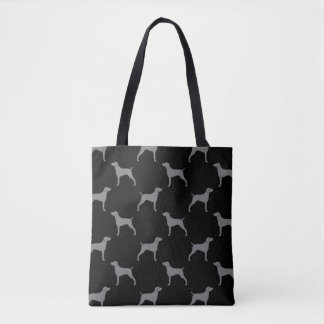 Weimaraner Silhouettes Pattern Tote Bag
