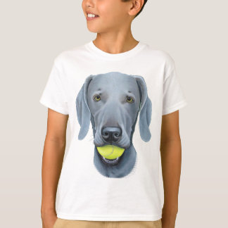 Weimaraner with Tennis Ball T-Shirt