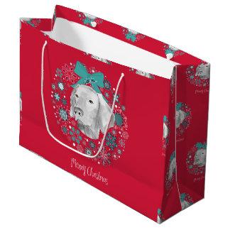 WEIMARANER WREATH GIFT BAG
