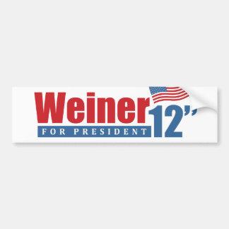 Weiner 2012 Inches - Bumper Sticker