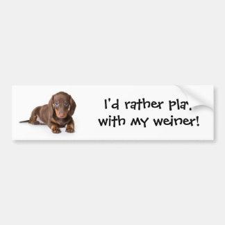 Weiner Dog Bumper Sticker