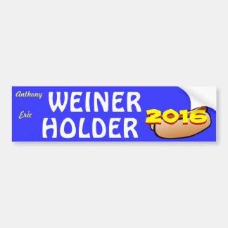 Weiner Holder for President/Vice-President 2016 Bumper Sticker