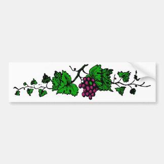 weintrauben vine grapes vine bumper sticker