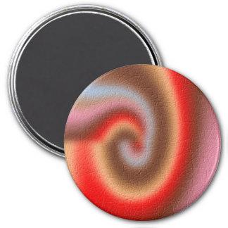 Weird abstract pattern 7.5 cm round magnet