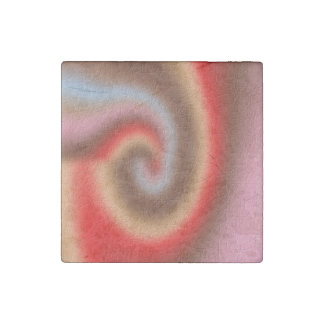 Weird abstract pattern stone magnet