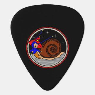 Weird Alien Snail On The Moon Guitar Pick