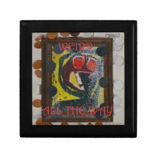 Weird All The Way On Outsider Art - Not Night Small Square Gift Box