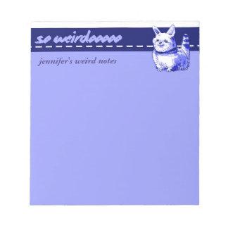 weird and funny cat cartoon notepad
