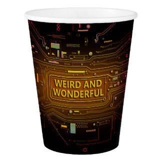 Weird and wonderful. paper cup