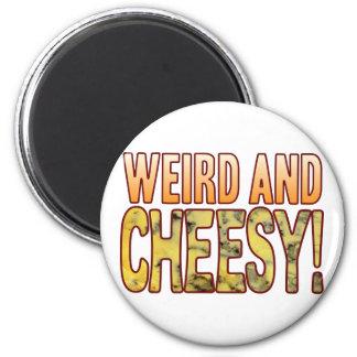 Weird Blue Cheesy 6 Cm Round Magnet