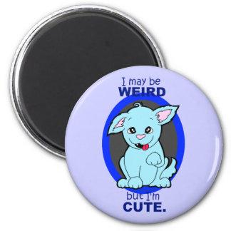 Weird But Cute Kawaii Cat Dog Creature 6 Cm Round Magnet