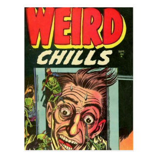 Weird Chills Comic book Postcard