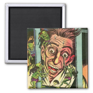 Weird Chills Comic book Square Magnet