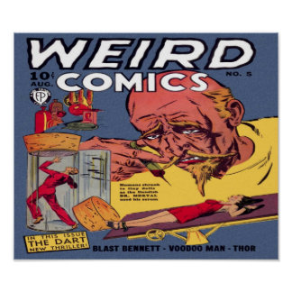 Weird Comics Comic Book Poster