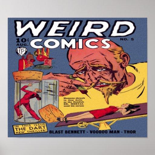 Weird Comics Comic Book Poster