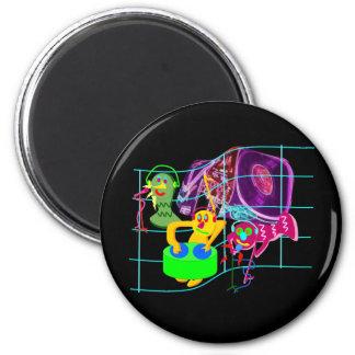 Weird DJ's Party 6 Cm Round Magnet