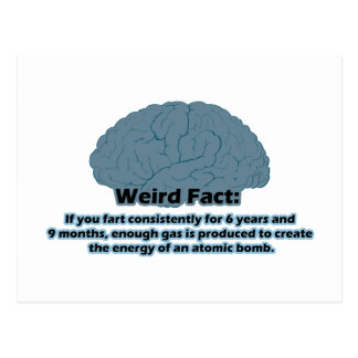 Weird Fact - Atomic Fart Postcard