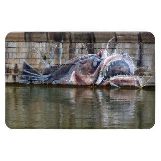 Weird Fantasy Anglerfish Graffiti Flexible Magnet