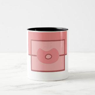 Weird flower Two-Tone coffee mug