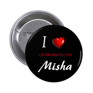 Weird Girls - Misha 2 1/4 inch Round Button