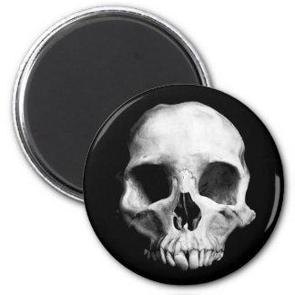Weird Halloween skull 6 Cm Round Magnet
