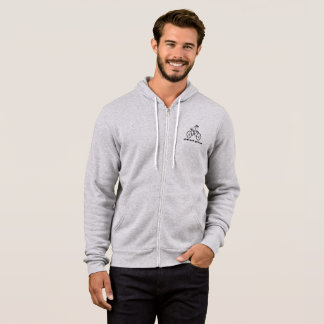 Weird Human Behavior Bicycle Men's Full-Zip Hoodie