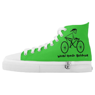 Weird Human Behavior Bicycle Zipz High Top Shoes