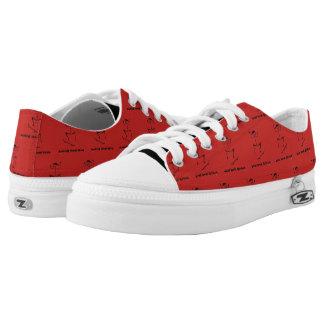 Weird Human Behaviour Skateboards Zipz Red Shoes