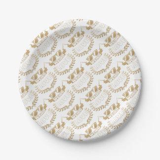 weird love paper plate