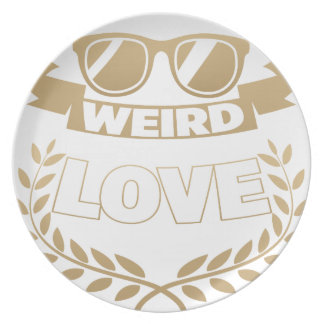 weird love plate