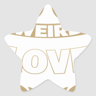 weird love star sticker
