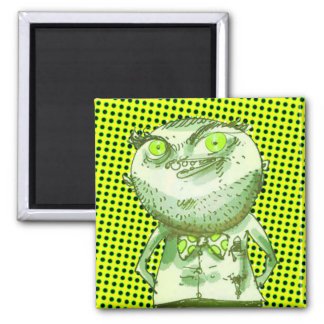 weird man is watching you funny cartoon magnet