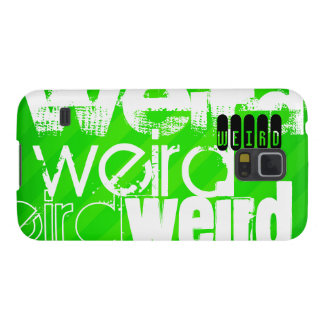 Weird; Neon Green Stripes Galaxy S5 Cases