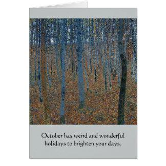 Weird October Holidays Card