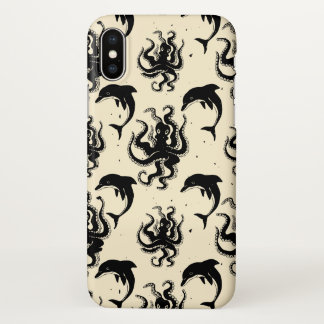 Weird Octopuses and Dolphins | iPhone X Case