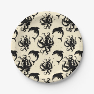 Weird Octopuses and Dolphins | Paper Plates