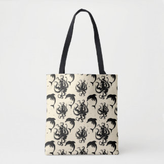 Weird Octopuses and Dolphins | Tote Bag