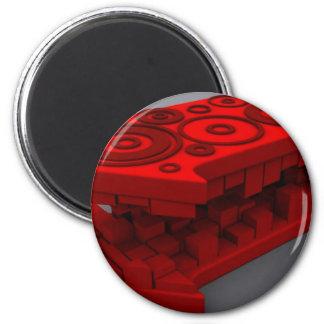 weird red arrows refrigerator magnets