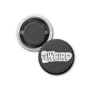 WEIRD - Retro Monster Girl Black & White 3 Cm Round Magnet