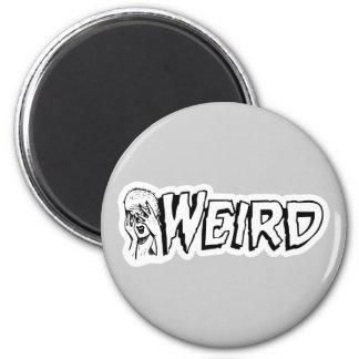 WEIRD - Retro Monster Girl Black & White Refrigerator Magnet