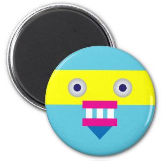 Weird Robot 6 Cm Round Magnet