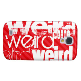 Weird; Scarlet Red Stripes Galaxy S4 Covers