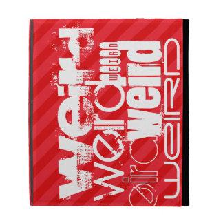 Weird; Scarlet Red Stripes iPad Folio Cases