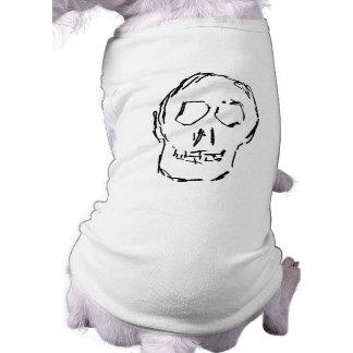 Weird Skull. Black. Sketch. Pet Clothes