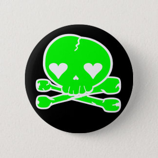 Weird Skull Goth Kawaii Style 6 Cm Round Badge