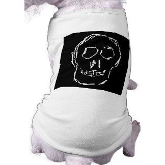 Weird Skull White Sketch Dog Clothing
